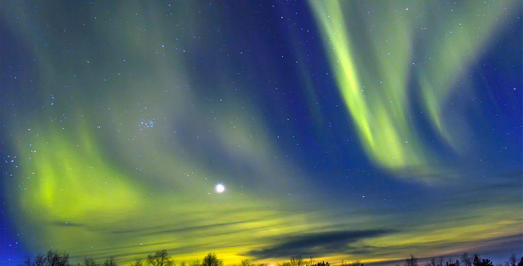 Un espectáculo de luz en el cielo