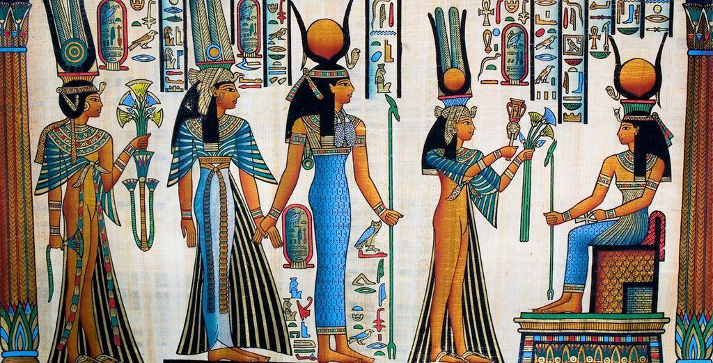 ... que conservan los tesoros del antiguo Egipto