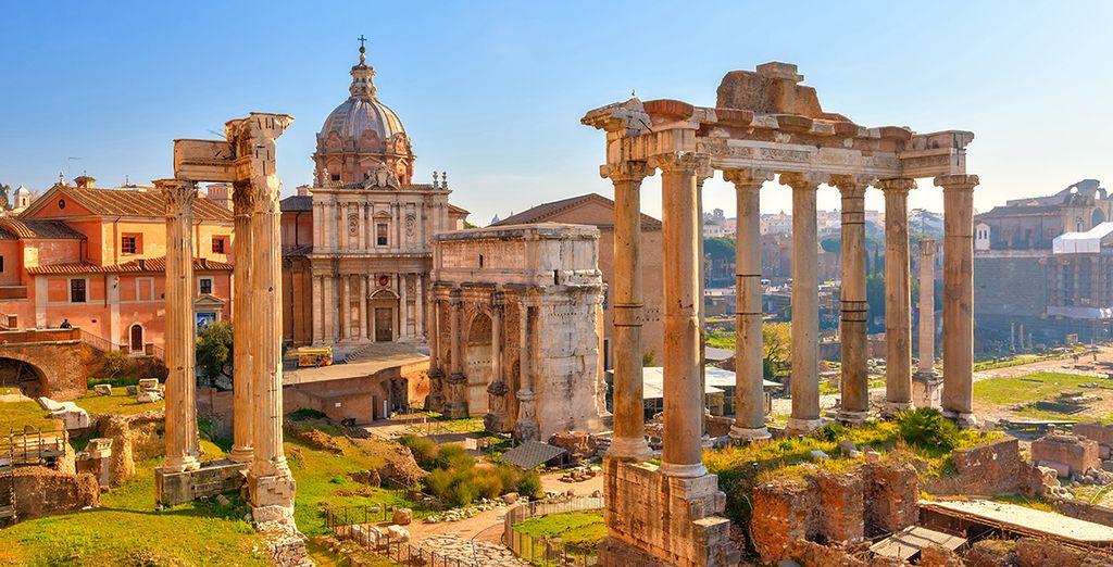 Empiece el circuito en la Ciudad Eterna, Roma