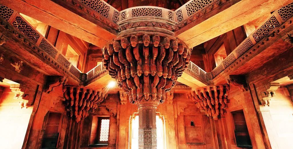 Fatehpur Sikri, una ciudad bien conservada con sus palacios, estancias y jardines