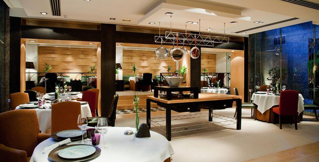Deguste en el restaurante Santceloni de platos que han recibido dos estrellas Michelín