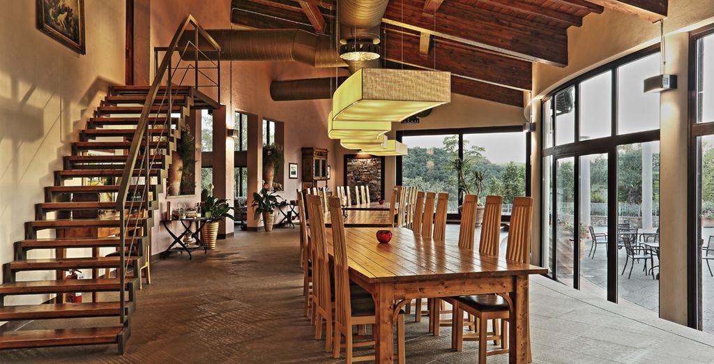 Disfrute de los muebles rústicos de madera