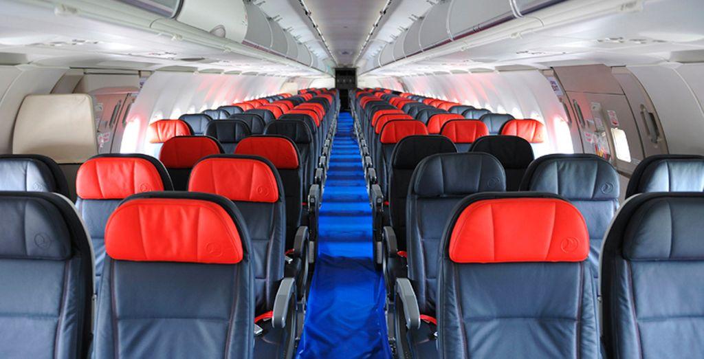 El asiento en clase turista de Turkish Airlines está diseñado pensando en tu confort