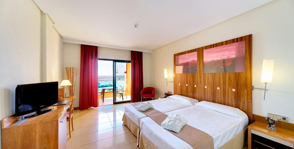 Su habitación con vistas al mar