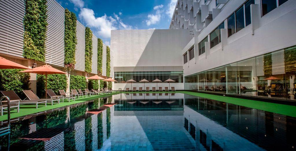 Un hotel con spa de 4 estrellas en el centro de Bangkok