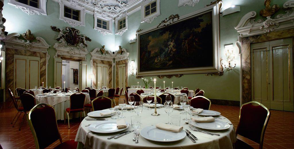 El restaurante Palazzo Gaddi prepara platos locales e internacionales...