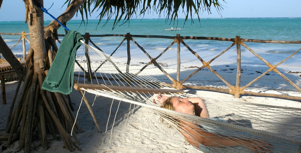 Acceso a la playa desde el hotel