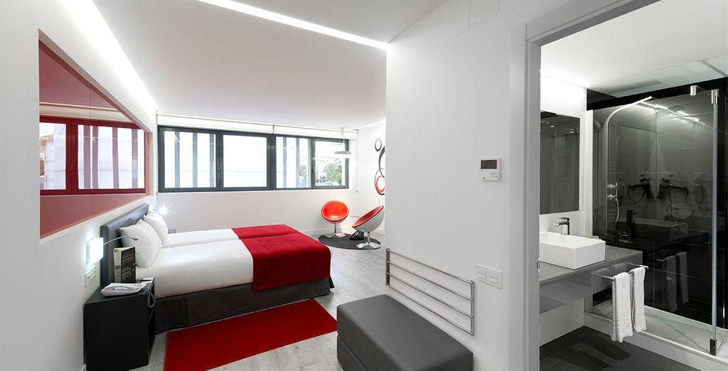 Alójese en habitaciones de diseño