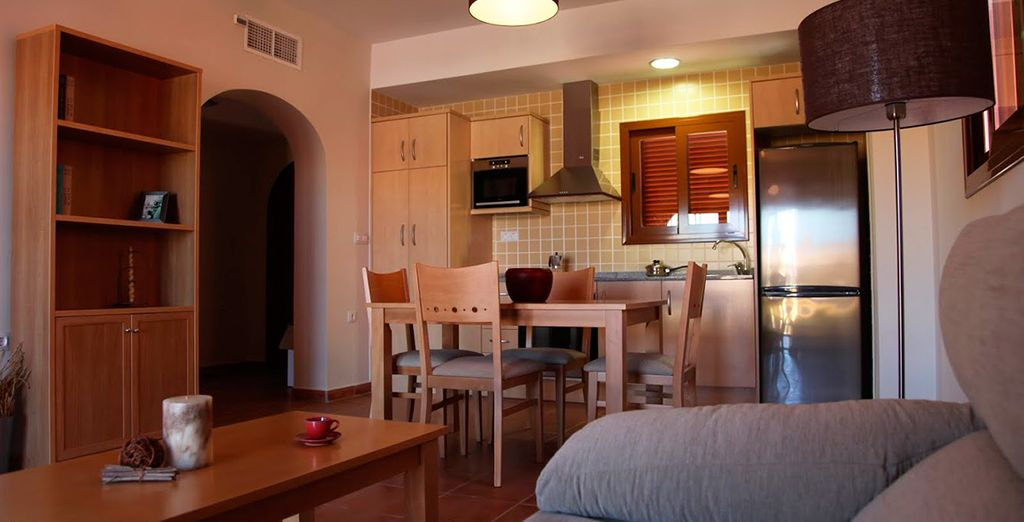 Su apartamento, donde disfrutará de todas las comodidades
