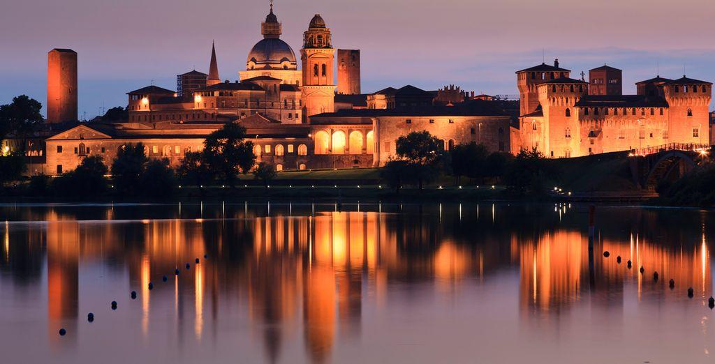 """Mantua es una ciudad hermosa, conocida como """"la ciudad que surge del agua"""""""