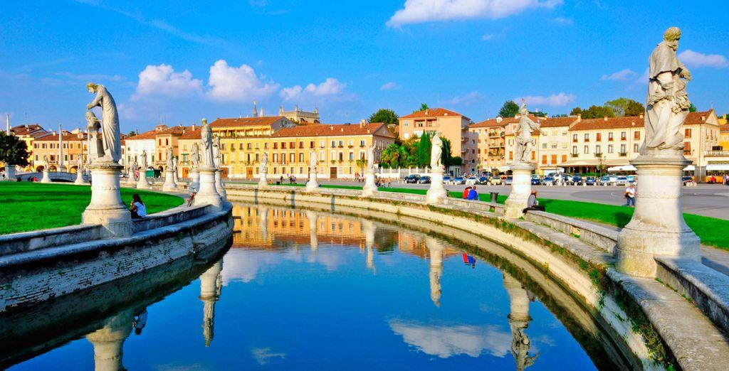 Padua es una encantadora ciudad bañada por los ríos Brenta y Bacchiglione