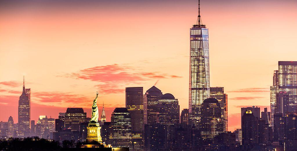 La estatua de la Libertad te dará la bienvenida a la última parada de tu viaje