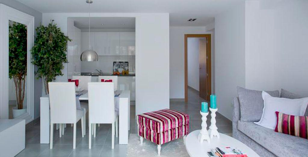 Amplios apartamentos con salón y zona comedor