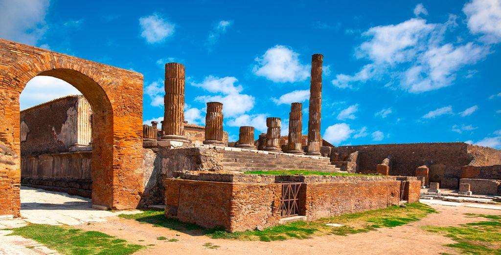 Una ciudad sepultada por la erupción del Vesubio
