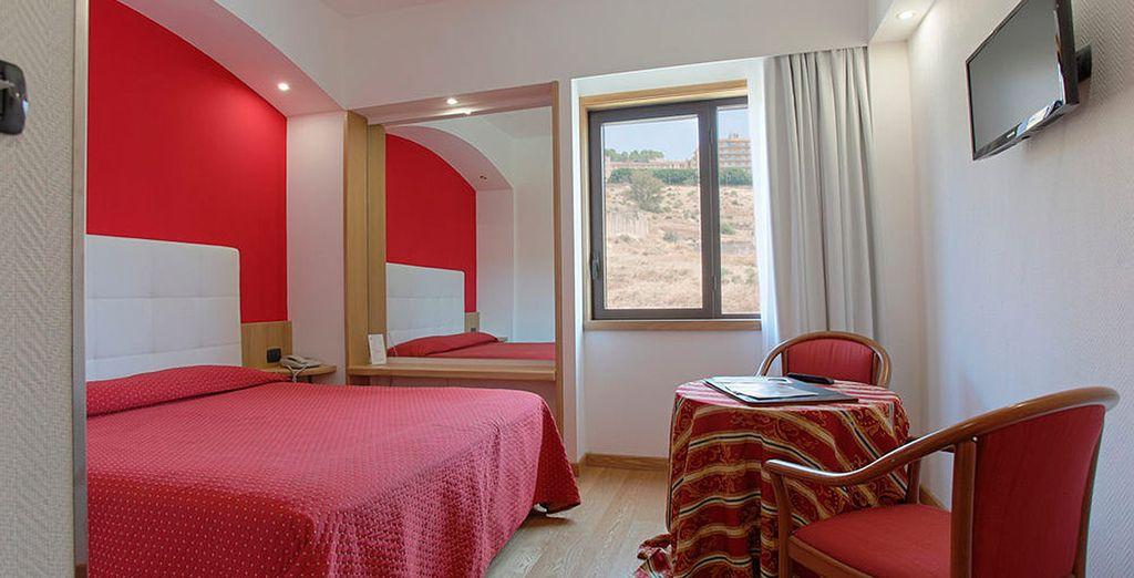 Un hotel cómodo y acogedor