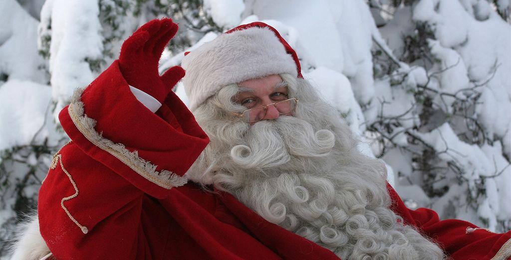 Y al final del viaje, el momento más esperado: visita al pueblo de Papá Noel