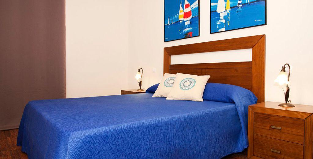 Descansa en los dormitorios...