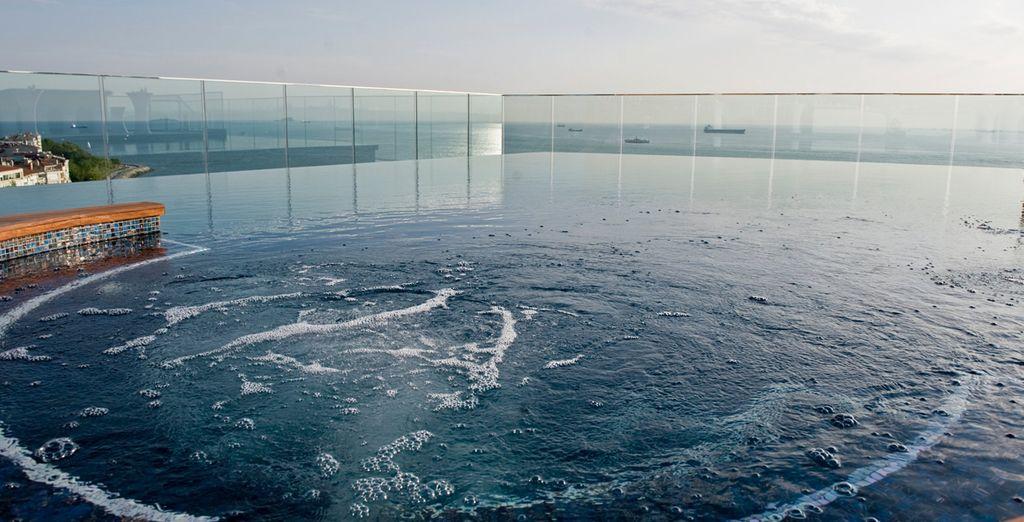 Quedarás fascinado por su fabulosa piscina Infinity