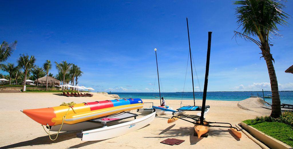 Un resort de playa de lujo en la isla de Mactan