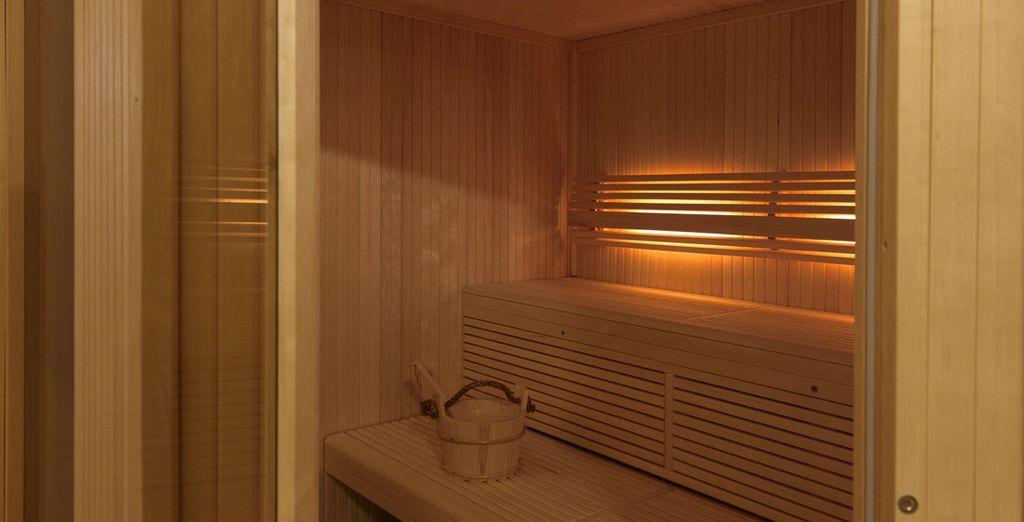 El spa dispone también de sauna y baño turco