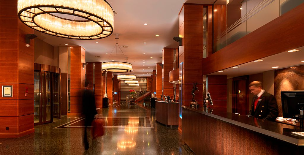 Impresionantes interiores desde el momento que entra al hotel