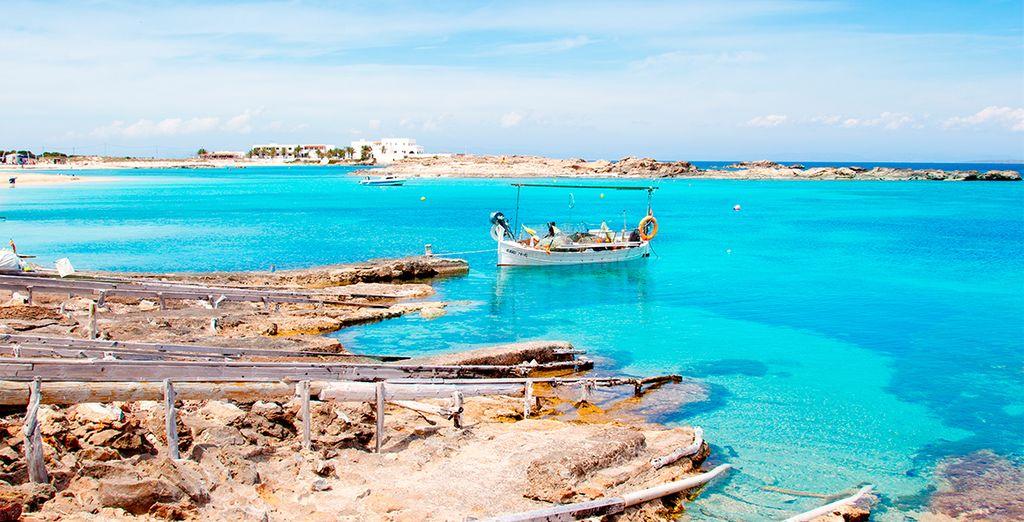 La bella playa de Es Pujols