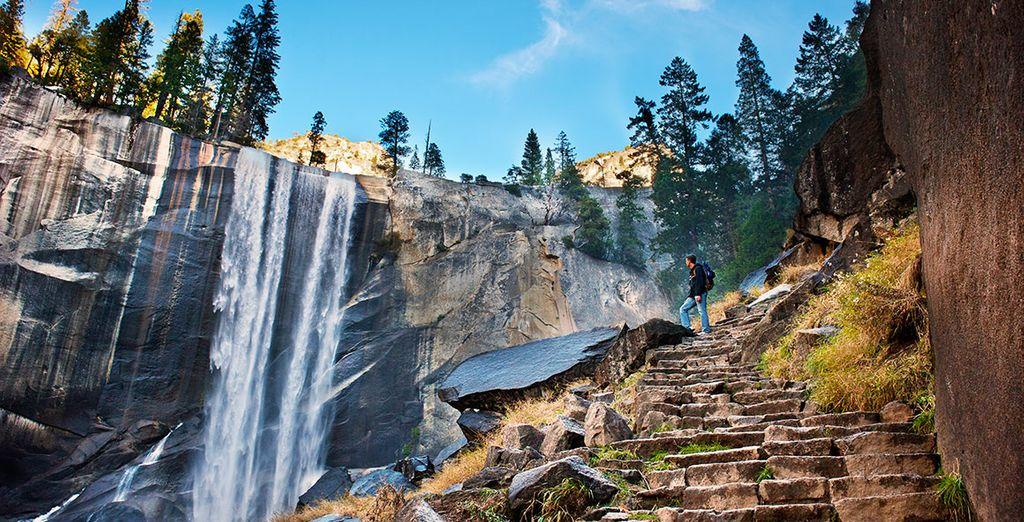 Yosemite sorprende por sus bosques y paisajes alpinos con magníficas cascadas