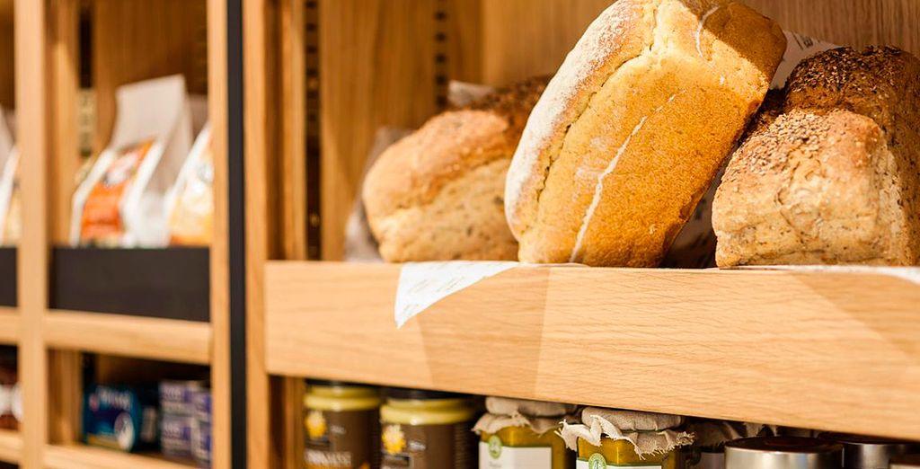 Una deliciosa selección de panes recién horneados...