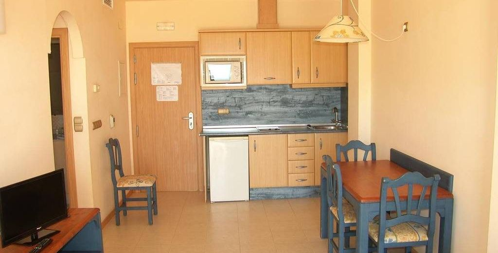 Con una cocina totalmente equipada