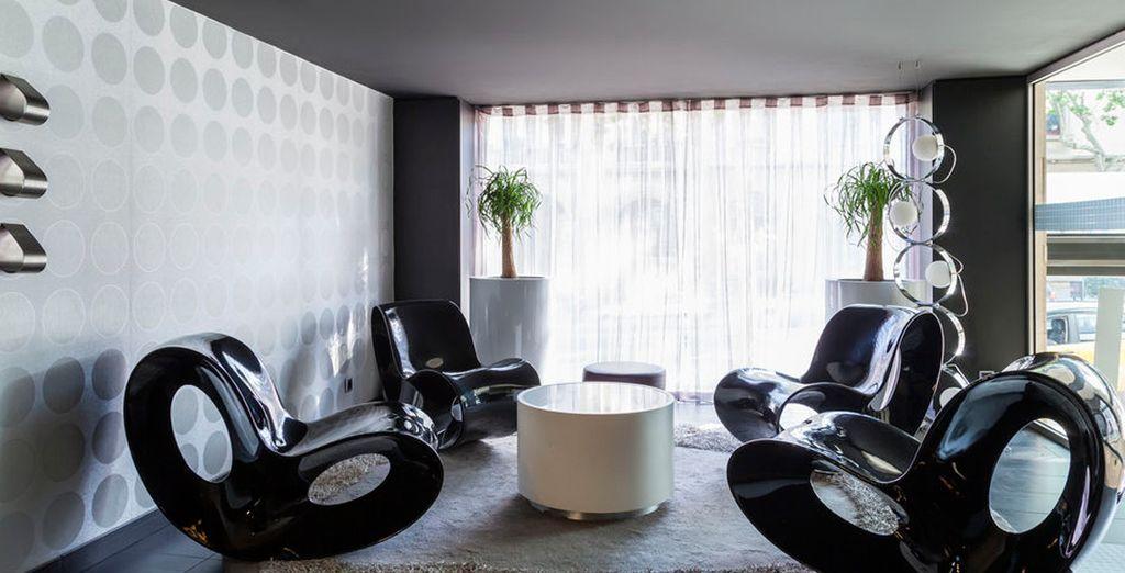 Un hotel moderno y de línea minimalista