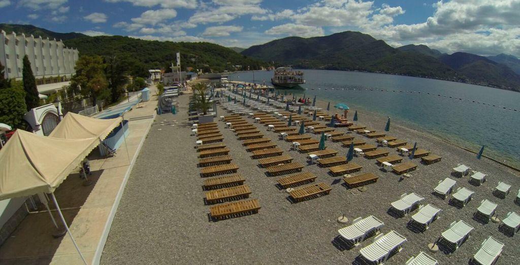 El hotel tiene su propio puerto, lo que permite el desarrollo del turismo náutico