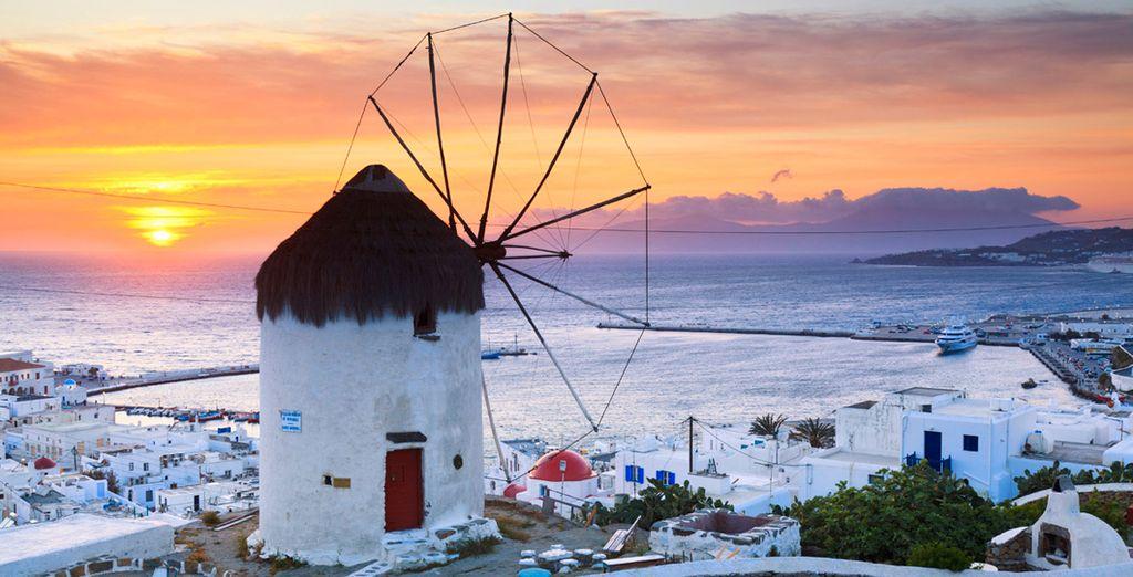 Visita Chora, donde se encuentran los molinos de viento de Mykonos