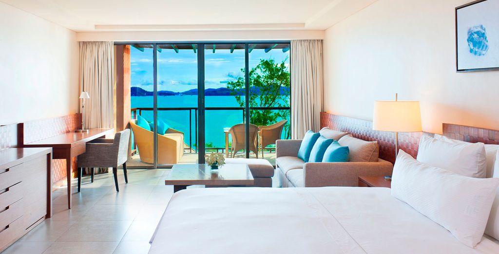 Descansa en tu habitación Deluxe con vistas al mar