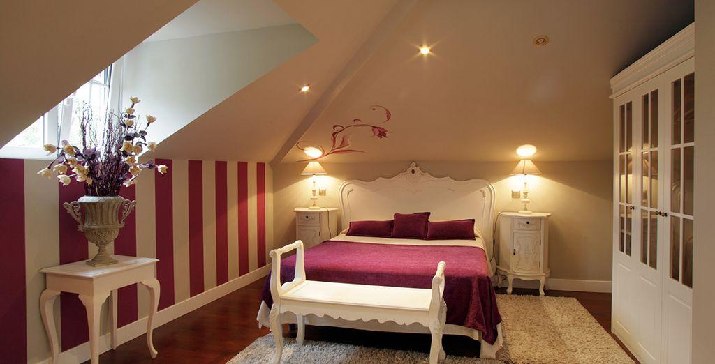 En las amplias y cómodas habitaciones