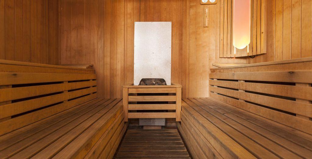 El hotel dispone de sauna