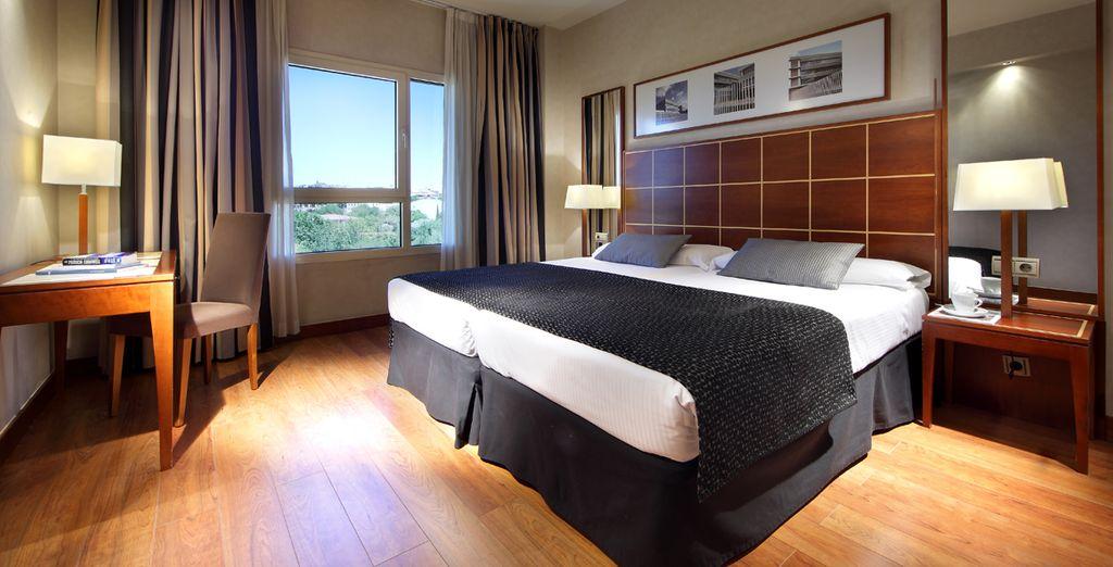 Descansarás en una confortable habitación Doble