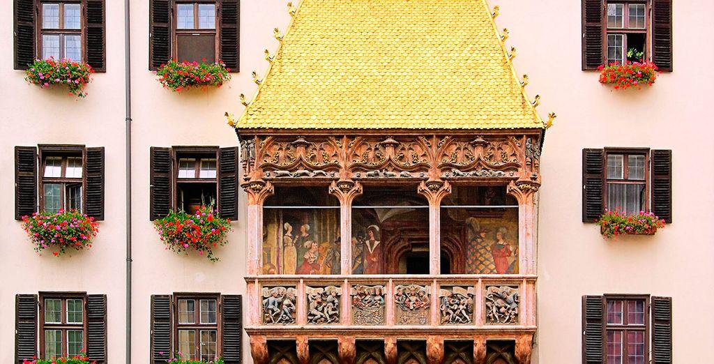 El Tejado Dorado de Innsbruck, uno de sus lugares más conocidos