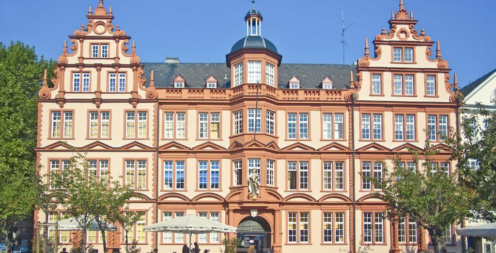 El séptimo día visitarás Mainz, la ciudad donde Johannes Gutemberg inventó la imprenta