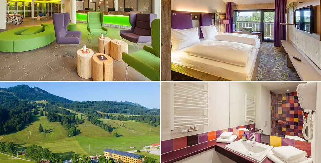 En la zona de Allgäu descansarás en el Explorer Hotel Neuschwanstein (o similar)