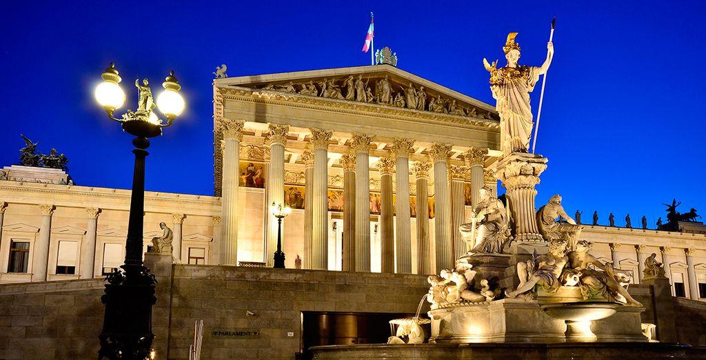 Asómbrate ante el bello parlamento vienés