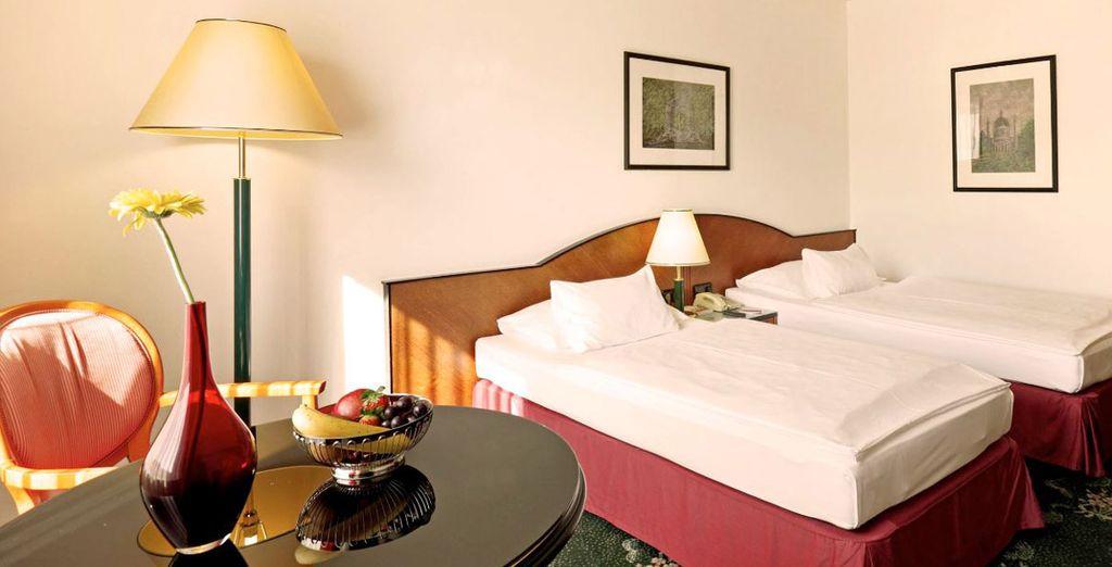 En Viena te alojarás en el Arcotel Wimberg 4*