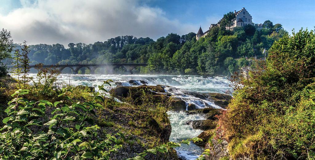 Pasaremos por las cataratas del Rin, un enclave de sublime belleza