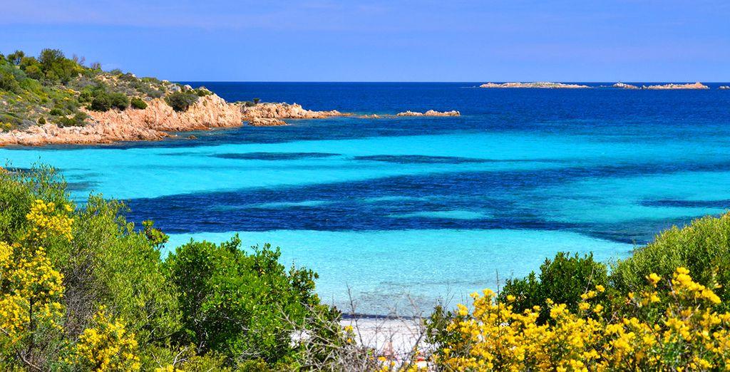 Deja que el viento, el sol y el mar color esmeralda te acaricien