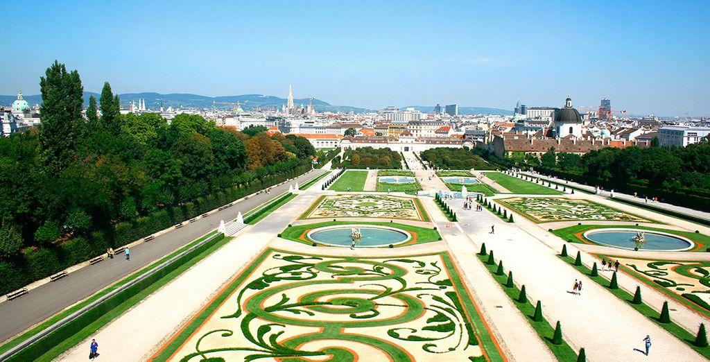 El vergel de los Jardines del Palacio de Schonbrünn