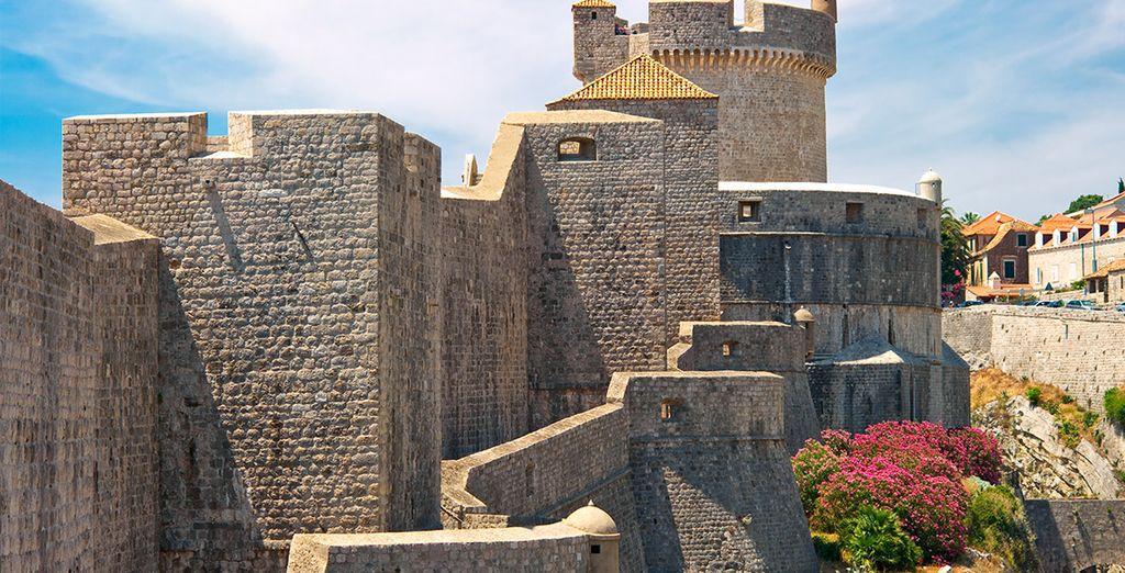 El castillo medieval de la ciudad croata