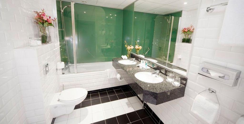El baño, donde encontrarás un equipo magnífico para tu comodidad