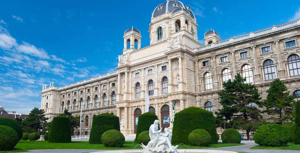 ... y junto al Palacio de Hofburg se encuentra el Museo de Historia Natural, grandioso por fuera e increíble por dentro
