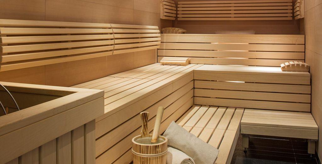 Con sauna y diversos tratamientos únicos