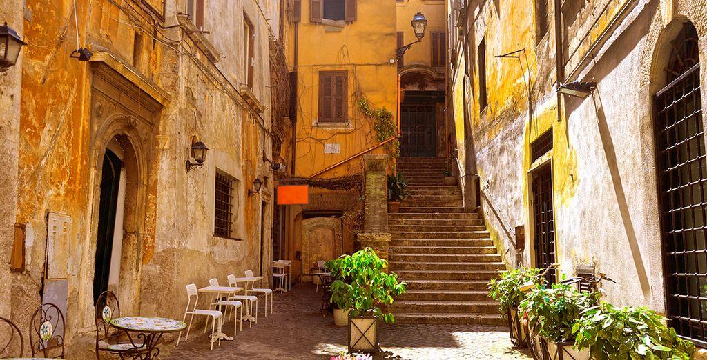 Recorre las calles de Trastevere