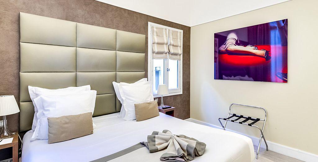 Puedes elegir una habitación Deluxe